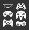 retro video games joystick set vintage vector image vector image
