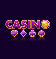 screen logo casino background gambling icons with vector image vector image