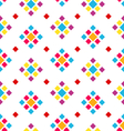 Seamless Geometric Texture with Colorful Rhombus vector image vector image