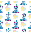 seamless pattern with unicorn and star vector image vector image