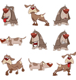 Set of cute dogs for you design Cartoon vector image