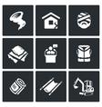 Set of Emergency Service Icons Hurricane vector image