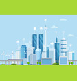 smart city flat modern urban vector image