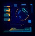 spaceship sci-fi user interface digital target vector image