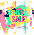 spring sale banner for online shopping with vector image