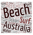 The Most Beautiful Beaches In Australia text vector image vector image