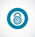 time lock icon bold blue circle border vector image