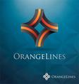 V 000151 Orange Lines vector image vector image