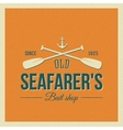Vintage Nautical Label or Logo with Retro vector image vector image