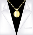 white suit and golden chain vector image vector image