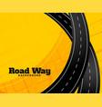 winding journey road trip background vector image vector image