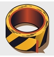 Adhesive tape in black and yellow stripes vector image