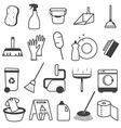 Basic Cleaning Tools Icons Set vector image