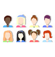 faceless avatar icons girls and women vector image