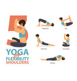 5 yoga poses for shoulders flexibility vector image