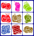 Abstract food icons