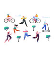 active people outdoor in the park man and woman vector image vector image