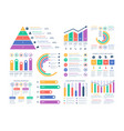 analytics infographics elements data graphic vector image