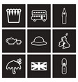 assembly stylish black and white icons england vector image vector image