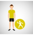 athlete man tennis sport graphic vector image vector image