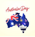 australia day greeting card banner with flag vector image
