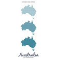 australia dot map - editable grid stroke vector image vector image
