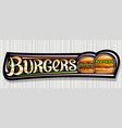banner for burgers