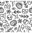 beautiful halloween seamless pattern vector image