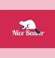 beaver animal logo - and text nice vector image vector image