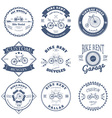 Bike Rent Label and Badges Design vector image