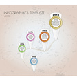 brown infographics vector image vector image