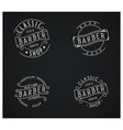 Bundle of four retro emblems for Barber Shop vector image