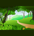 card with tropical forest background vector image