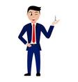 cartoon businessman character vector image