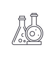 chemical laboratory line icon concept chemical vector image vector image