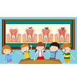 Children and tooth decay diagram vector image vector image