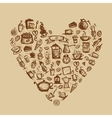 Coffee time heart shape for your design vector image vector image