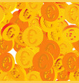 coins with euro symbols seamless pattern vector image