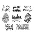 collection easter typography design elements vector image