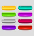 colorful set of smooth buttons vector image