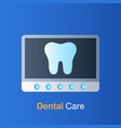 dental care concept tooth x-ray prevention check vector image
