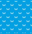 eagle wing pattern seamless blue vector image vector image