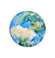 earth hand drawn globe watercolor texture world vector image