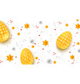 easter decorative banner three-dimensions easter vector image vector image