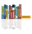 Education books - Marketing vector image vector image