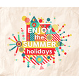 Enjoy summer fun quote poster design vector image