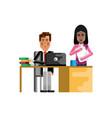 european businessman working in office vector image vector image