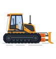 excavator machinery for building and construction vector image vector image