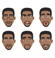 face expressions of african american man vector image vector image