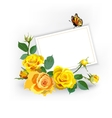 Floral Background with yellow roses vector image vector image